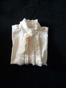 chemisier en soie et coton