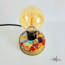 """Lampe vintage, lampe de bureau, lampe de chevet - """"Les Prunelles de Vichy"""""""