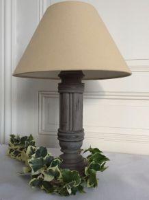 Pied de lampe bois ancien