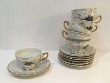 Ensemble de 6 tasses à café en porcelaine