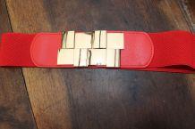 ceinture taille simili cuir effet dore carreTU