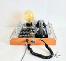 """Lampe industrielle, lampe vintage - """"Mains Libres"""""""