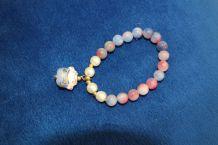 bracelet asiatique effet perle chat japonnais