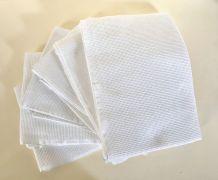 Six serviettes nid d'abeille vintage