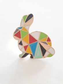 Pin's broche lapin origami