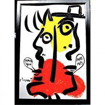 Acrylique de Peter Robert Keil - Hallo you - signée, certifi