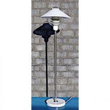 Lampe sur pied design scandinave 1970 blanche