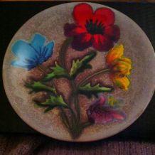 Assiettes de présentation assorties Fleurs
