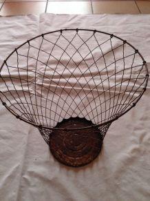 Poubelle fil de fer vintage