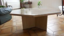 Table basse en tavertin