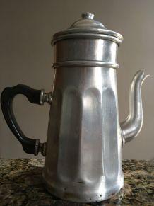 cafetière aluminium vintage