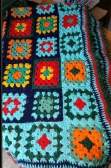 Bouti patchwork laine vintage