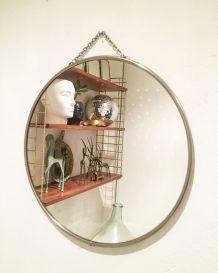 Miroir de barbier des années 60