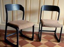 Paire de chaise Traineau Baumann