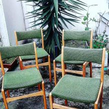 4 chaises vintage 1960 Design scandinave