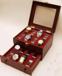 Coffrets bois pour 16 montres