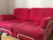 canape en tissu rose