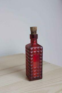 bouteille miniature rouge bouchon liège