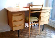 Bureau vintage bois formica style guariche