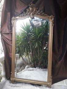 Grand miroir ancien Napoléon III