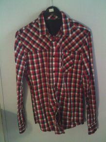 Chemise à carreaux taille M