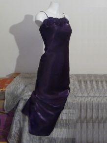 Robe De Soirée À Très Fines Bretelles Violet