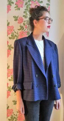 Colette - Veste à carreaux en laine vintage