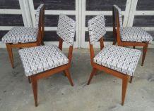 Série de 4 chaises vintages