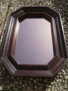 miroir octogonal teint cuivré vintage