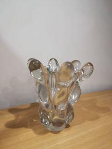 Vase en cristal soufflé c.1920