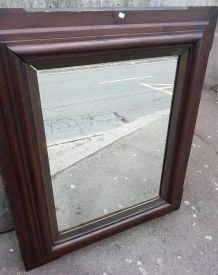 Grand miroir en chene