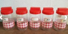 Lot pot condiment vintage