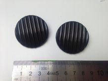 Boucles d'oreilles vintage noires