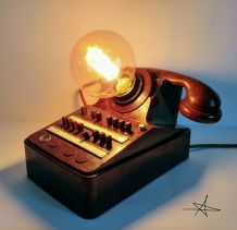 "Lampe industrielle, lampe vintage - ""Brown Phone'"""