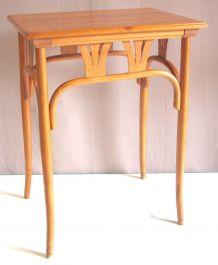 Table d'appoint bois courbé