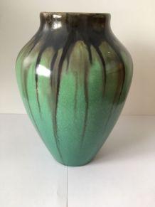 Vase Grès Flammé Art Nouveau Faïencerie De Bouffioulx 9590