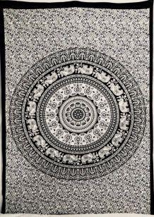 Tenture Indienne Éléphant & Mandala