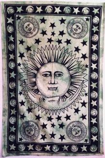 Tenture Indienne Soleil & Lune
