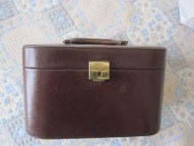 Vanity case Cuir marron