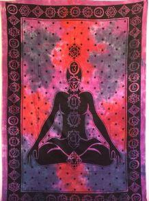 Tenture Indienne Méditation/Chakras