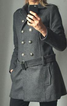 Manteau gris ceinturé marque Sinequanone Taille 38
