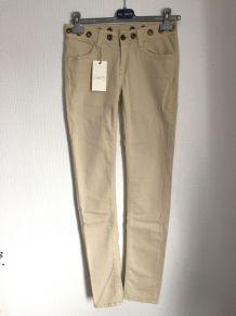 Jean  slim beige marque School Rag Taille 27