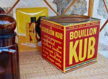 Grande boite métal vintage bouillon Kub