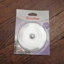 Metaltex - Bouche/ bonde d' Evier blanc de diamètre 10,5cm-