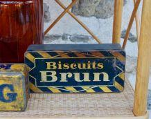 Boite métal vintage Biscuits BRUN