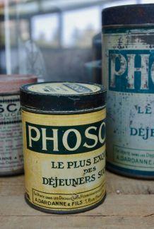 Petite boite métal vintage verte Phoscao