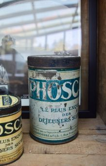 Grande boite métal vintage Phoscao