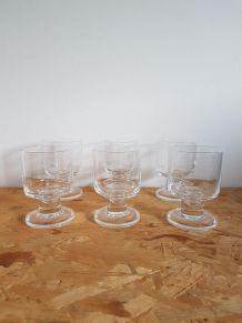 Set de 6 verres vintage 70' 60' en cristal