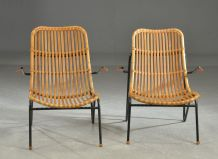 2 Fauteuils en bambou – Laurids Lonborg