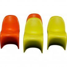 4 Chaises pour enfant oranges et vertes Verner Panton